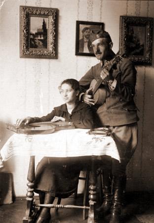 Tadeusz Nowosielski z siostra